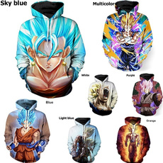 3D hoodies, Fashion, Long Sleeve, Dragon Ball Z