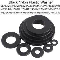 flatwasher, screwwasher, Plastic, blackwasher