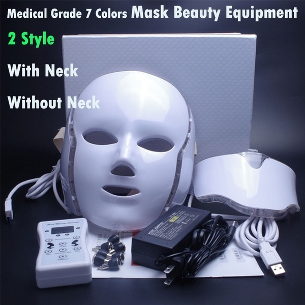 Foreverlily 7 Colors Led Facial Mask Led Korean Photon Therapy Face Mask Machine Light Therapy Acne Mask Neck Beauty Led Mask Wish