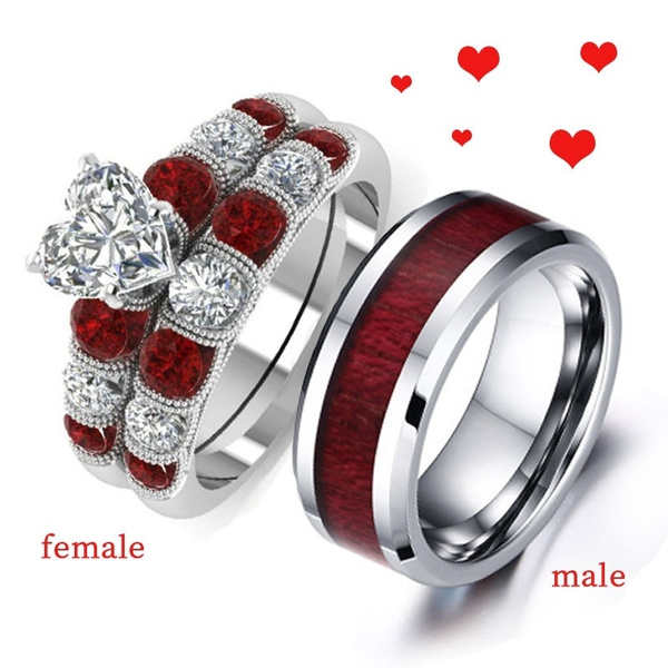 Steel, DIAMOND, wedding ring, titanium steel rings