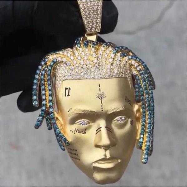 Cubic Zirconia, Punk jewelry, hip hop jewelry, punk necklace