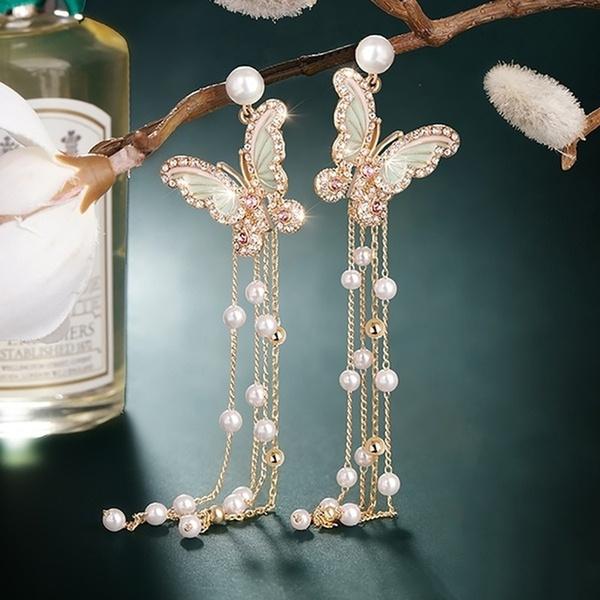 crystal pendant, ladiesjewellery, butterfly earrings, Jewellery