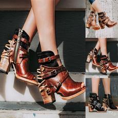 heelsandal, opentoesandal, faux leather, sandals for women