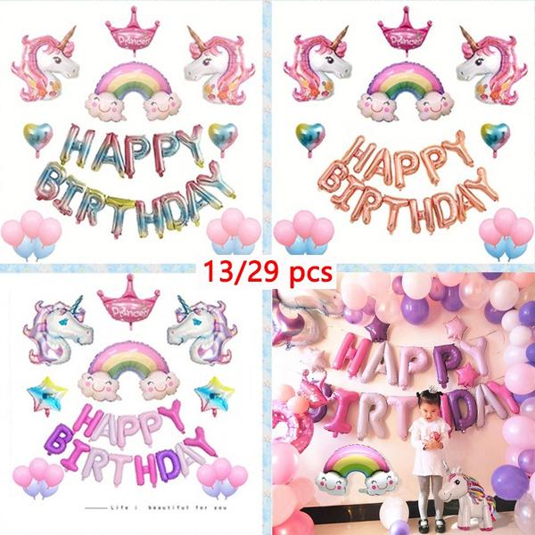 unicornparty, happybirthday, foilballoon, birthdaydecor
