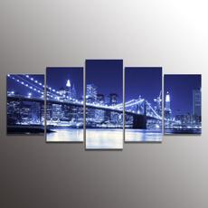 canvaswallart, Wall Art, Home & Living, brooklynbridgeframedprint