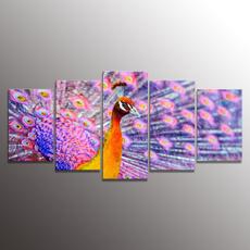 peacock, canvaswallart, art, Home Decor