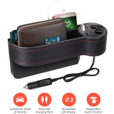 carseatslitpocket, Storage, usb, softleathercarseatgappad