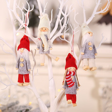 snowman, knitted, Tree, Christmas