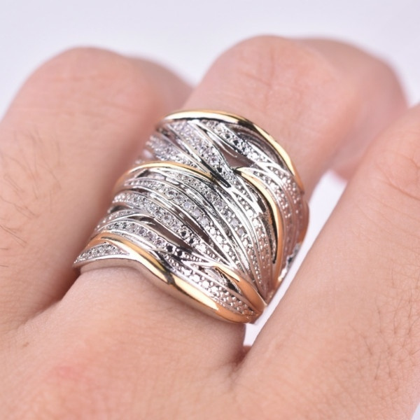 Sterling, goldplated, wedding ring, gold