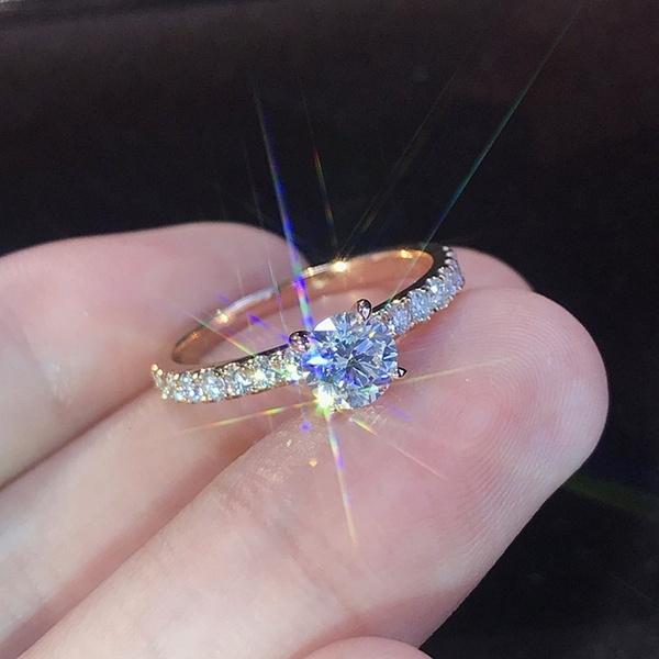 platinum, silver plated, DIAMOND, wedding ring