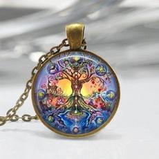 Brass, wiccan, Jewelry, Glass