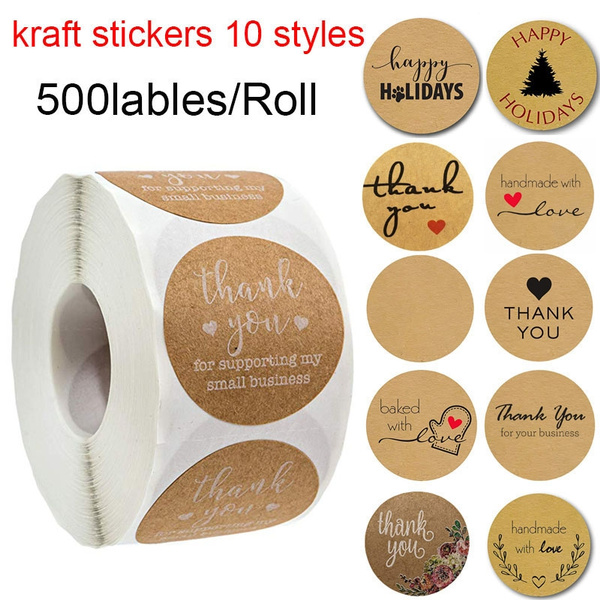 1Roll Retro Custom Stickers/_Thank You for Supporting My Small Business/_500 Label