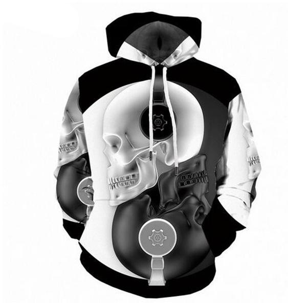 hoody sweatshirt, 3D hoodies, Fashion, skull