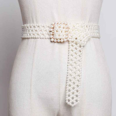 designer belts, Summer, manmadepearlbelt, Fashion