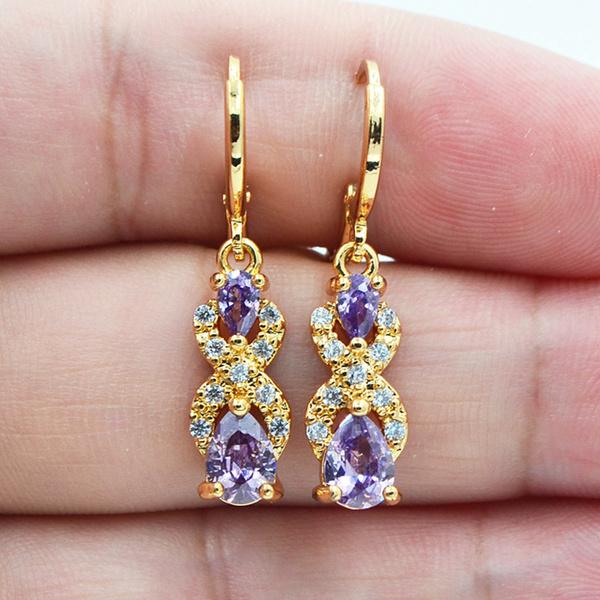 yellow gold, topazjewelry, Jewelry, topazearring