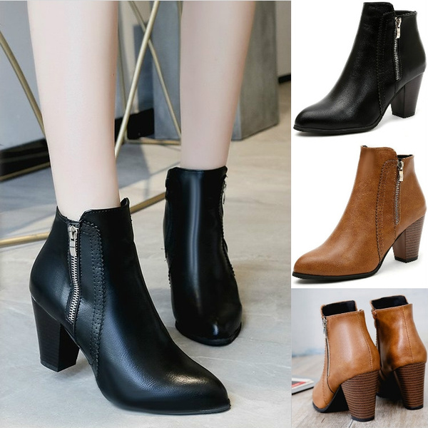 womens ankle boots high heel