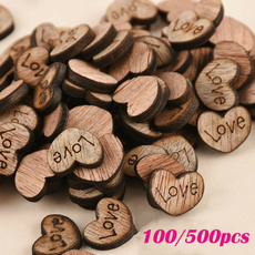 decoration, Love, Heart, Wooden
