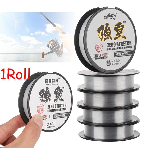 Monofilament Polyester Bait Fishing Line Elastic Thread Spool Fluoro Carbon
