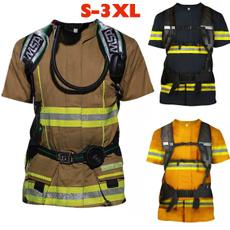Cosplay, Shirt, Printed Tee, fireman