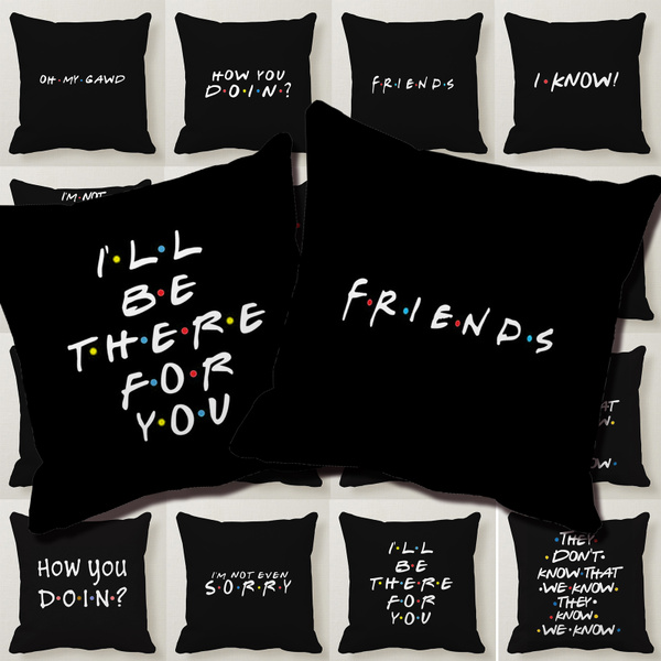 Vintage Funny Words Pillow Case Polyester Sofa Throw Cushion Cover Home Decor