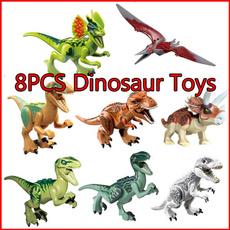 Toy, dinosaurminifigure, jurassic, assembleminifigure