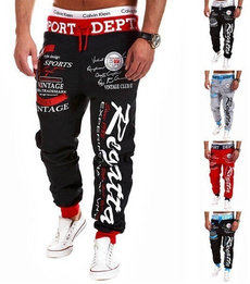 harem, trousers, Casual pants, letter print