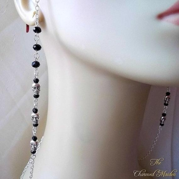 Goth, handmadehandcrafted, Chain, skull
