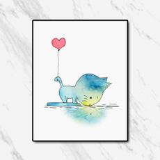art print, Heart, Decor, art