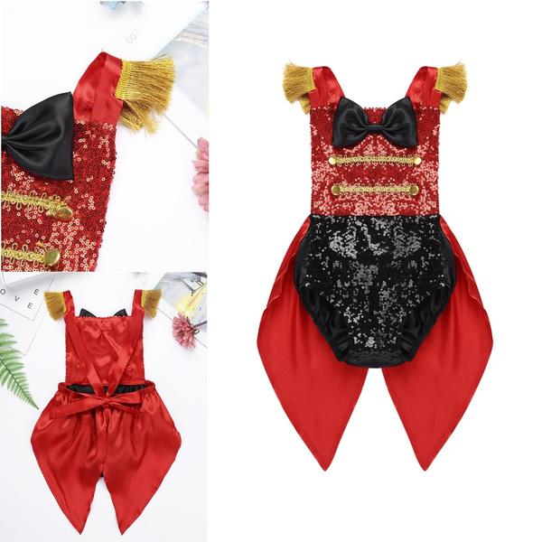 Kaerm Baby Girls Boys Circus Ringmaster Birthday Party Costume Sequins Gentleman Texudo Romper