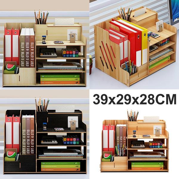 Storage Box, woodenbookshelf, desktopstorageorganizer, Office