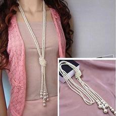 imitationpearlsnecklace, Chain Necklace, Fashion, Jewelry