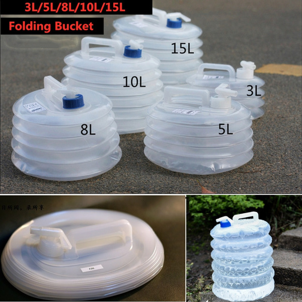 3L 5L 8L 10L 15L Outdoor Collapsible Foldable Water Bags Container Camping