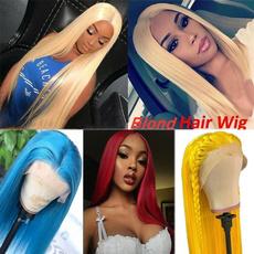 wig, human hair, Straight Hair, longblondewig