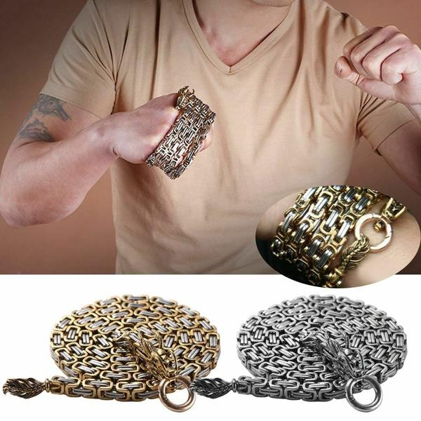 Outdoor equipment defense Bracelet whip Necklace waist chain keel dragon spine