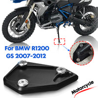 For BMW R1250GS R 1250 GS HP R1250 GS Adv Adventure low suspension CNC Kickstand Side Stand Vergroter Plaat Extension Pad Color : Black