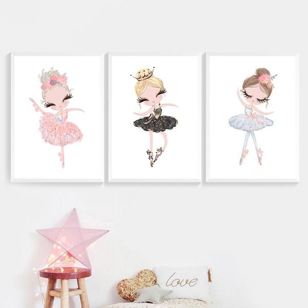 cute, Ballet, art, Home Decor