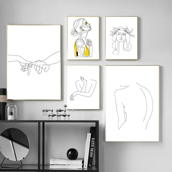 art, Home Decor, Modern, Yellow