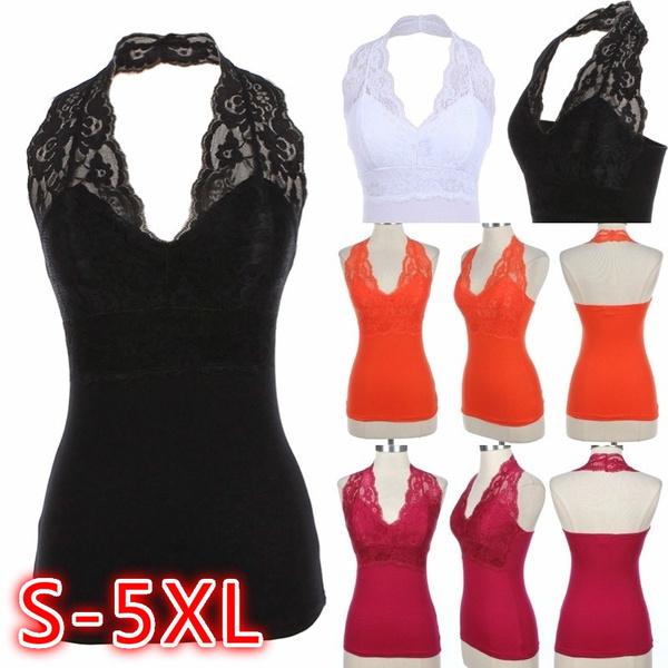 blouse, Plus Size, Lace, Halter