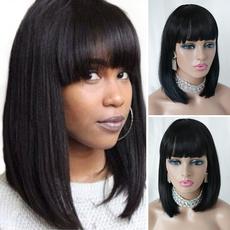 wig, Black wig, hairstyle, Shorts