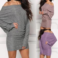 batsleeve, strapless, Fashion, sweater dress