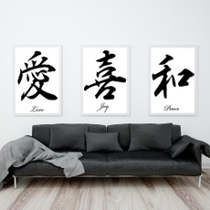 japanesecalligraphy, Home & Kitchen, Decor, Chinese