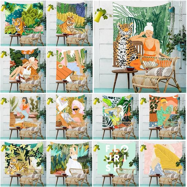 Summer, tropicalplant, Wall Art, junglevibe