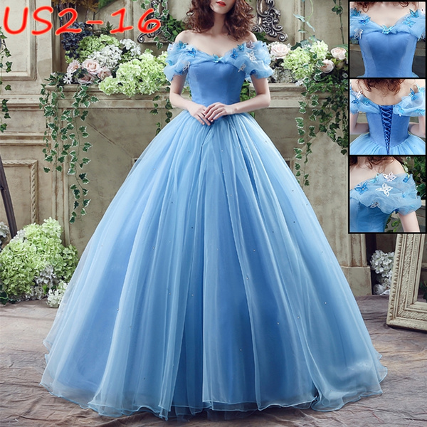 Blues, gowns, Princess, Sleeve