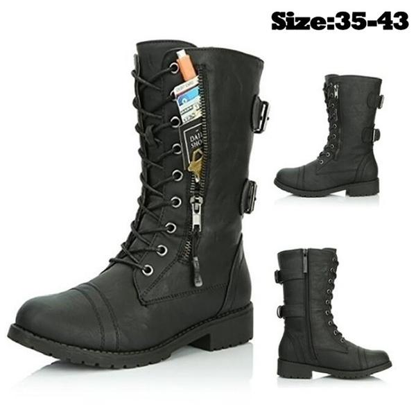 Flats, Plus Size, Leather Boots, Lace