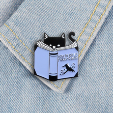 bookbadge, catbookpin, readingpin, bookloverpin