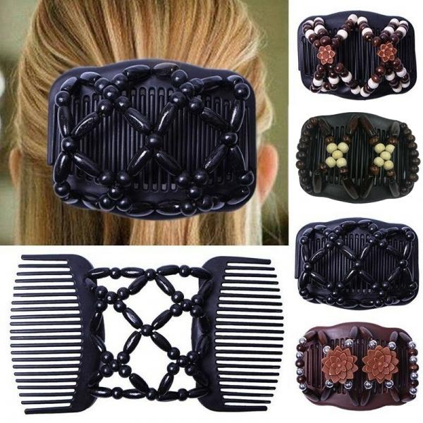 hairsidecomb, woodenhairclip, Magic, Elastic