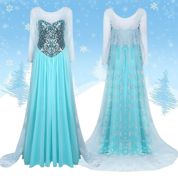 Adult Women Party Mermaid Princess Dresses Ball Gown Dress Up Halloween Cosplay Costume Role Play Uniform S Xxl Wish