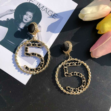 Black Earrings, Dangle Earring, Jewelry, Gifts