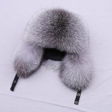 Fashion, winter cap, silverfoxfur, ushankahat