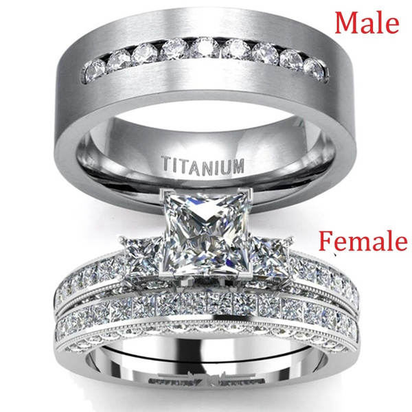 Sterling, Steel, Fashion, Engagement Ring